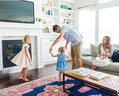 Seeing our rugs take center in your homes is what it's all about. Our mission at CWD is to help create beautiful, livable spaces where home can be deeply enjoyed. It warms our hearts to see the navy kismet rug be a small part of this sweet family moment in @dselander03's home  #shareyourcwt #caitlinwilsondesign