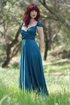 Pacific Peacock Octopus Convertible Wrap Gown from CoralieBeatrix on Etsy. Saved to Clothes - Grandma's closet. Two Birds Bridesmaid, Bridesmaid Dresses, Wedding Dresses, Bridesmaids, Bridesmaid Ideas, Maxi Dresses, Two Birds Dress, Bride Sister, Convertible Dress