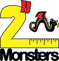 """Logo for the fifth batch of 2"""" Monsters. This one features the Inch Wyrm."""