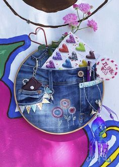 Jeans-Pinnwand