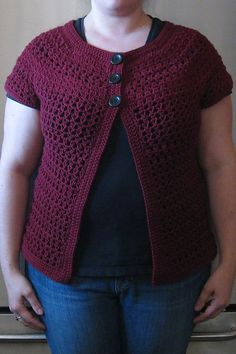 Ravelry: Project Gallery for Ashlar Crochet Cardigan pattern by Robyn Chachula