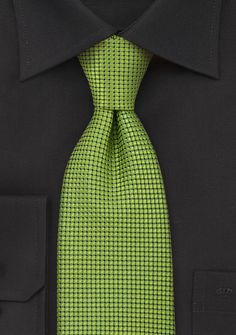 Designer Silk Tie in Metallic Green