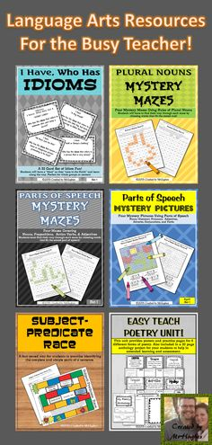 Check out these resources to make your teaching Language Arts life easier! Perfect for poetry month and testing review! ($)