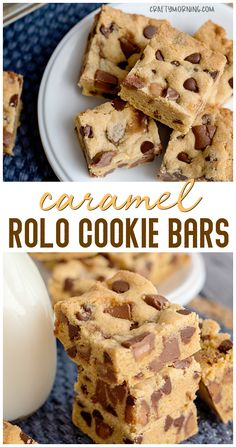 Caramel Rolo Cookie Bars Recipe- candy b. Rolo Cookies, Candy Bar Cookies, Caramel Chocolate Chip Cookies, Chocolate Desserts, Caramel Cookie Recipe, Desserts Caramel, Graham Cookies, Caramel Treats, Pudding Cookies