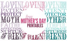 Looking for beautiful and free decor for Mother's Day this year? Download our Mother's Day Printables today and display in your home or give as a gift!