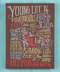 another great find on zulily young life 11 x 15