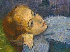 BERNARD Emile,1888 - Madeleine au Bois d'Amour - Detail 05 - Sœur de l'artist - Artist' sister -