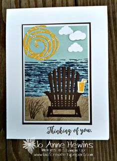 Colorful Seasons Stamp Set and the Seasonal Layers Thinlits Dies- Stampin' Up! Making Greeting Cards, Greeting Cards Handmade, Scrapbooking, Scrapbook Cards, Nautical Cards, Beach Cards, Retirement Cards, Stampin Up Catalog, Get Well Cards