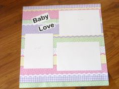 BABY LOVE 12x12 Premade Single Scrapbook by LeapofFaithCreations