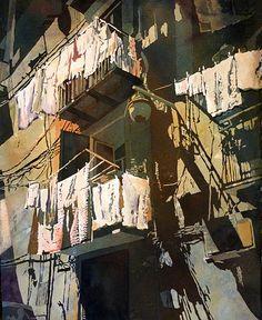 Linda Daly Baker Charleston, South Carolina award winning artist specializes in painting original watercolors, teaching watercolor workshops & jurying - instructional videos Watercolor Artists, Watercolor And Ink, Watercolour Painting, Painting & Drawing, Watercolours, Landscape Artwork, Watercolor Landscape, Art And Illustration, Illustrations