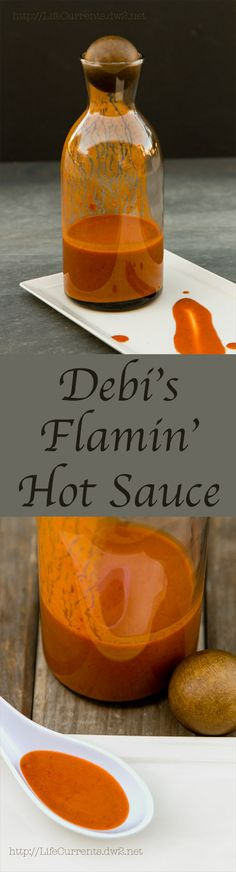 Have you ever tried making your own hot sauce? Oh you should! And Debi's Flamin' Hot Sauce is GREAT! Fruity, hot, full flavored! Use it on everything!
