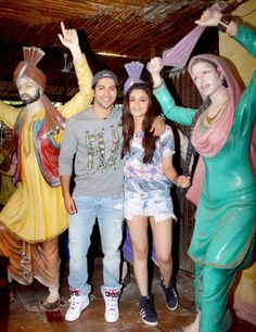 Varun Dhawan and Alia Bhatt promote Humpty Sharma Ki Dulhania.