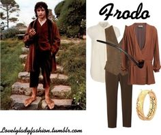 Lord of the Rings Costume Idea Hobbit Costume, Halloween Costumes To Make, Halloween Pictures, Halloween Ideas, Frodo Baggins, Chic Outfits, Movie Outfits, Fandom Fashion, Casual Cosplay