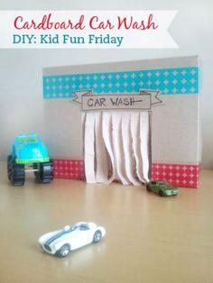 Car wash - Ceral box, 2 papertowel holders, fabric scrap