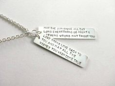 Handmade Stamped Irish Blessing Sterling Silver by TwoPennyJewelry  www.etsy.com/shop/twopennyjewelry