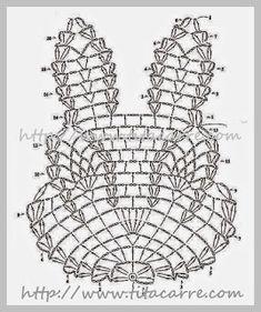 Filet Crochet, Crochet Motifs, Crochet Diagram, Crochet Chart, Thread Crochet, Irish Crochet, Crochet Doilies, Crochet Flowers, Crochet Stitches