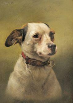 American & European Paintings & Prints - Sale 2581B - Lot 405  William Weekes (British, 1856-1909)   Sold for $3,185.00    Dick (Fox Terrier)