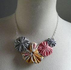 Image result for Fabric Yo Yo Jewelry