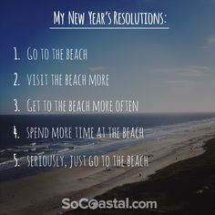 The perfect New Year's Resolutions list.