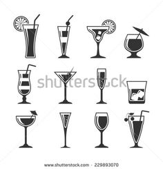 Cocktails set. - stock vector