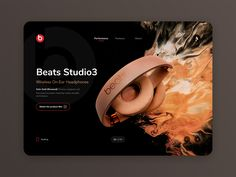 Beats Landing Page - Web Design by Angel Villanueva Design Agency, Ux Design, Web Layout, User Interface, Beats, Photoshop, Landing, Angel, Training