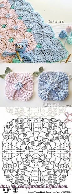 Transcendent Crochet a Solid Granny Square Ideas. Inconceivable Crochet a Solid Granny Square Ideas. Crochet Motifs, Crochet Blocks, Crochet Diagram, Crochet Stitches Patterns, Crochet Chart, Crochet Squares, Crochet Doilies, Crochet Flowers, Free Crochet