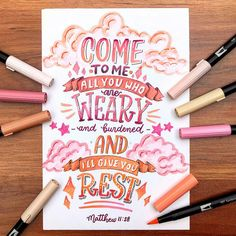 Selbstmotivation Matthew How Do We Know What Time It Really Is? Brush Lettering Quotes, Watercolor Lettering, Hand Lettering Quotes, Creative Lettering, Lettering Styles, Lettering Design, Calligraphy Doodles, Calligraphy Quotes, Calligraphy Letters