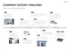 Company history milestones in a timeline powerpoint template powerpoint timeline template for company histories toneelgroepblik Image collections