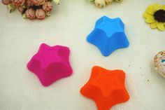 10Pcs Stars Shape Mold Baking Tools Silicone Cake Jelly Soap Mold Cupcake Muffin