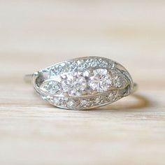 1940s Diamond Engagement Ring Vintage Engagement Ring