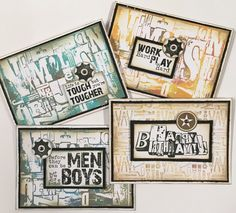 Cards for the boys using kaszazz products, created by julie storti Boy Cards, Masculine Cards, Play Hard, Card Ideas, Stamps, Card Making, Create, Boys, Products