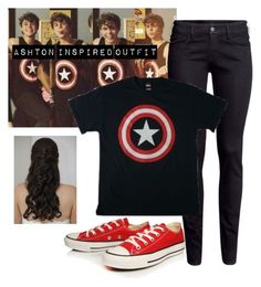 """Ashton Inspired Outfit"" by hana-69 ❤ liked on Polyvore featuring H&M and Converse"