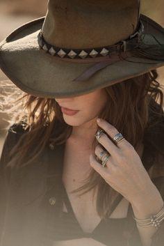 belted vintage western hat