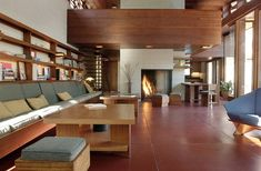 Bachman-Wilson House / 1423 Millstone River Road, Millston, New Jersey / 1954 / Usonian / Frank Lloyd Wright -- Frank Lloyd Wright Style, Frank Lloyd Wright Buildings, Usonian, Mid Century House, Cool House Designs, Sustainable Design, Architecture Design, Beautiful Architecture, Home Goods