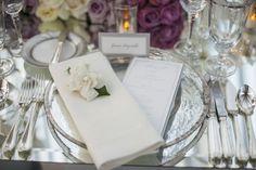 wedding reception place setting