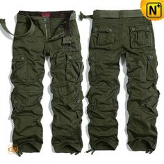 Mens Army Green Cargo Hiking Pants CW100016