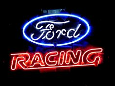 Ford Racing American Auto Classic Neon Light Sign 16 x 14