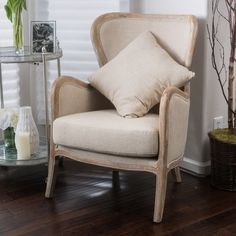Christopher Knight Home Crenshaw Fabric Wing Chair   Overstock.com Shopping - The Best Deals on Living Room Chairs