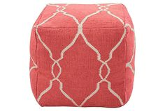 Love coral and love poufs!