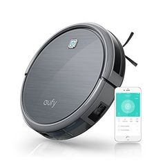 Eufy RoboVac 11c, Smart Wi-Fi Robotic Vacuum Cleaner, High Suction, Weekly Cleaning Schedule, Self-Docking, HEPA Style Filter Allergens, Hard Floor and Thin Carpet