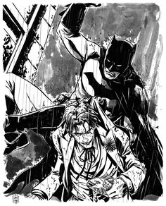 Batman and The Joker commission by =MarcLaming on deviantART
