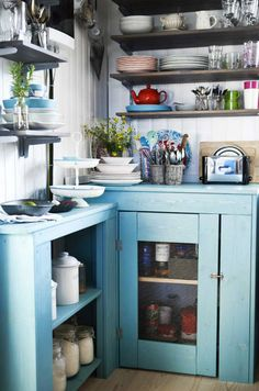 tiny + cute + rustic with a modern twist kitchen