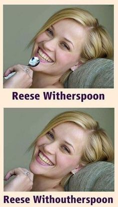 There have been a lot of internet trends and memes and puns are always popular. Here are 55 more funny and hilarious celebrity name puns you're gonna love! Humor Mexicano, Reese Witherspoon, I Love To Laugh, Make Me Smile, Funny Cute, The Funny, That's Hilarious, Stupid Funny, Stupid Jokes