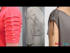 Sleeves Designs For Kurti & Top Kurti Sleeves Design, Sleeves Designs For Dresses, Kurta Neck Design, Neck Designs For Suits, Blouse Neck Designs, Sleeve Designs For Kurtis, Dress Designs, Pola Lengan, Stylish Blouse Design