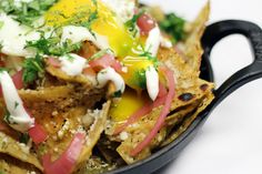 How to make chilaquiles from Avec! #avec #Chicago #nomnomnom Tempranillo would be a #wine great pairing!
