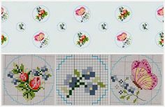 Lovely heart things: Cross Stitch: Roses in style Shabby-chic (collection schemes)