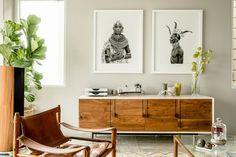 Decoración modernista con toques étnicos en una casa impresionante