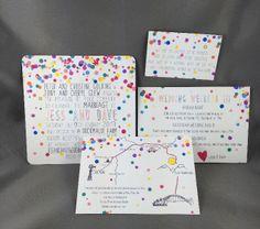 Confetti Wedding Invitation Package