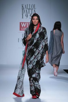Kallol Datta also used some digital prints of himself on the saris, adding to the creative appeal