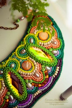 Vibrant bead embroidery from Russia would be right at home in NOLA!